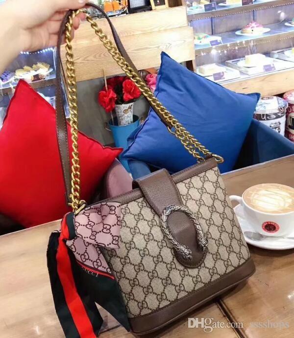 2020 yeni kalite bayanlar omuz kova çantası klasik postacı çanta moda ipek eşarp çanta çanta boyutu: 22cm. 19cm