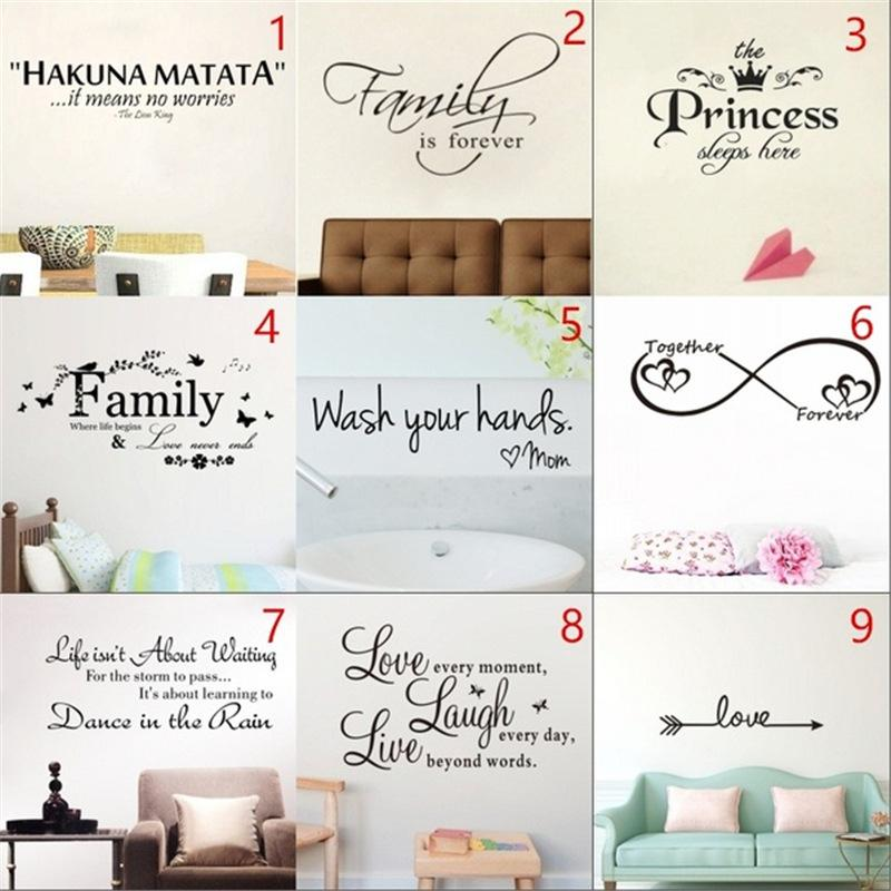 English text alphabet plane wall stickers home decoration painting room PVC environmentally friendly removable stickers