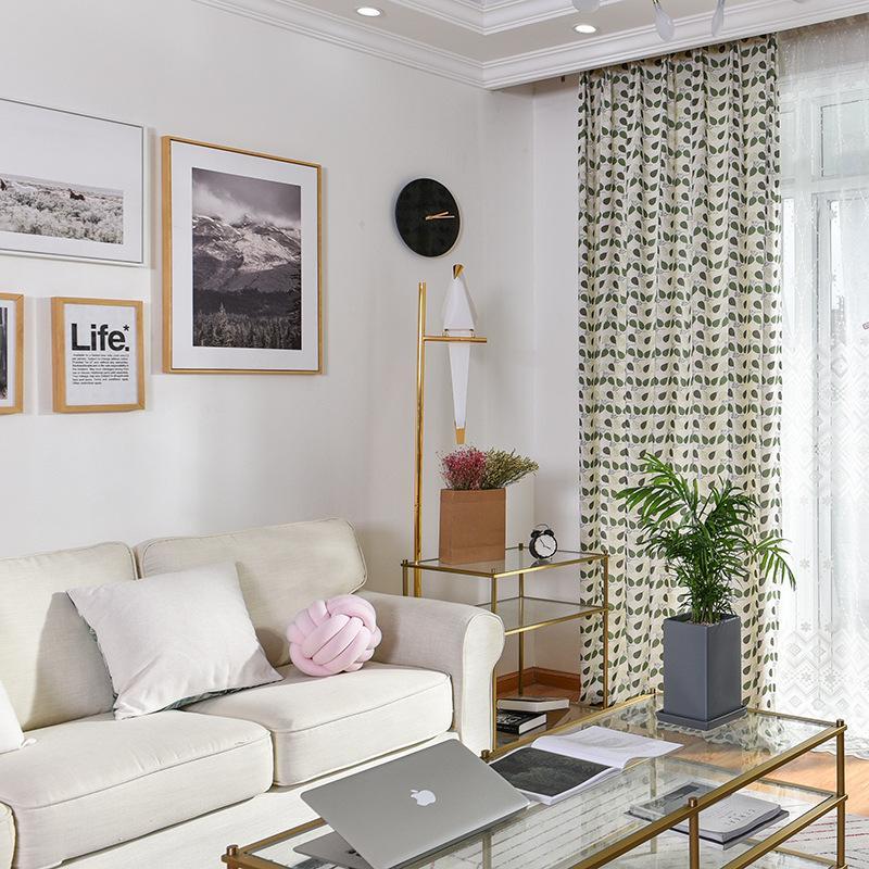 현대 커튼 거실 식당 폴리 에스테르면 인쇄 직물 아이 커튼 침실 그늘 직물