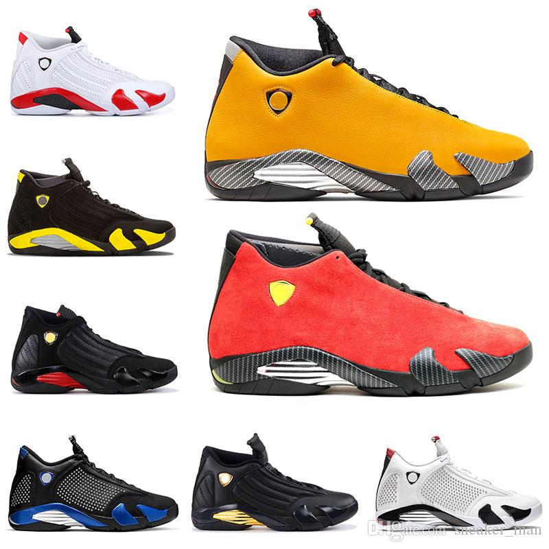 Jumpman 14s Reverse Ferr Yellow Basketball Shoes XIV Mens Red Suede Sneakers Candy Cane SPM royal blue 14 Sports Trainers
