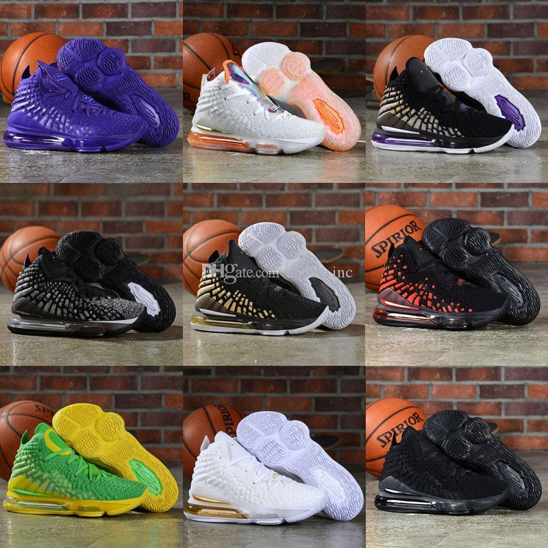 저렴한 망 무엇 르브론 (17) 농구 신발 MVP 선수권 대회에서 경기장 오레오 블랙 퍼플 골드 lebrons 제임스 XVII 운동화