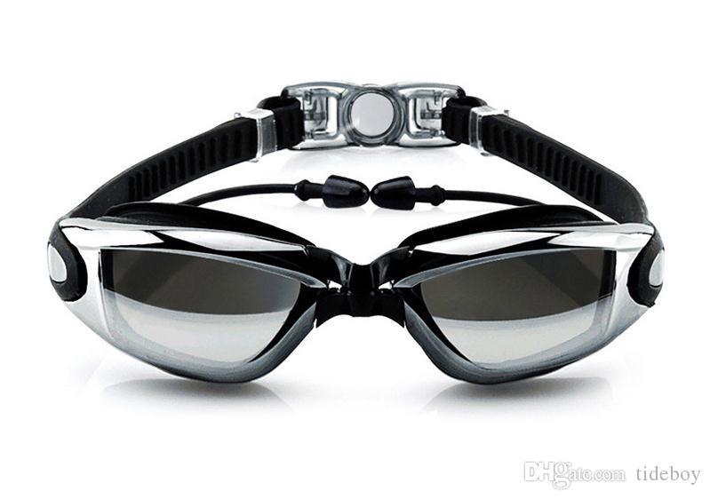 2019 نظارات الكبار الملتصقة سدادات السباحة نظارات الموضة أربعة ألوان الرجال والنساء نظارات الكهربائي نظارات المضادة للضباب