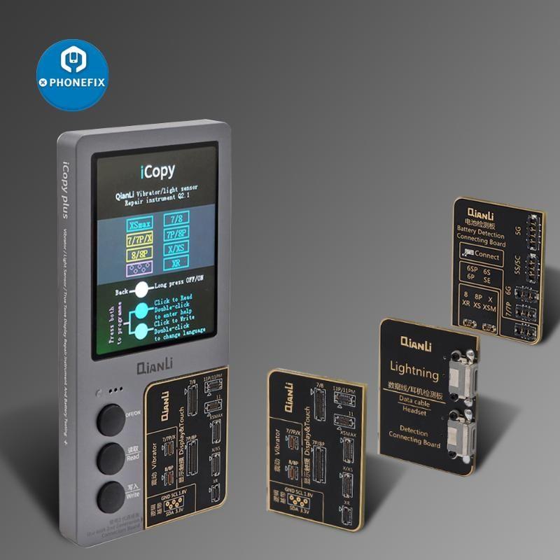 ICOPY QIANLI PLUS Écran LCD Programmeur de réparation de couleurs originale photosensible pour 11Pro XR XSMAX XS Vibration Touch Repair