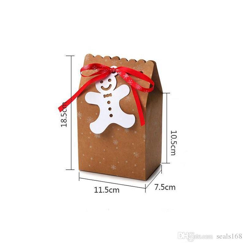 Noel Hediyesi Çanta Şeker Kutusu Çerez Kutusu Noel Kutuları ve Malzemeleri Noel dekorasyonu HH9-A2583 tamamlayan Hediyelik Çantalar Packaging