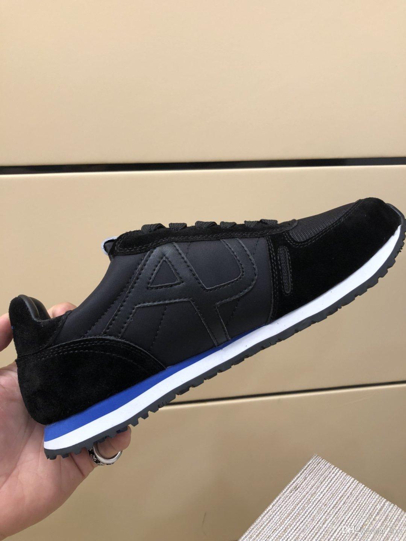 Chaussures De Marque Gießen Hommes schwarz atmungsaktive Gewebe mit rutschfester Unterseite Marken-Designs Luxus-Walking Freizeitschuhen # 2F