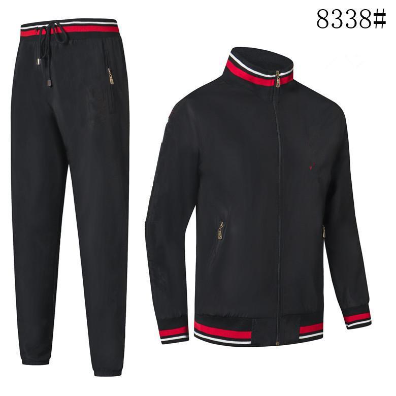 Fashion 2021 Design Men's tracksuit Letter printing Sportswear Men Track Suit Sweat Suit Coat Mens tracksuit