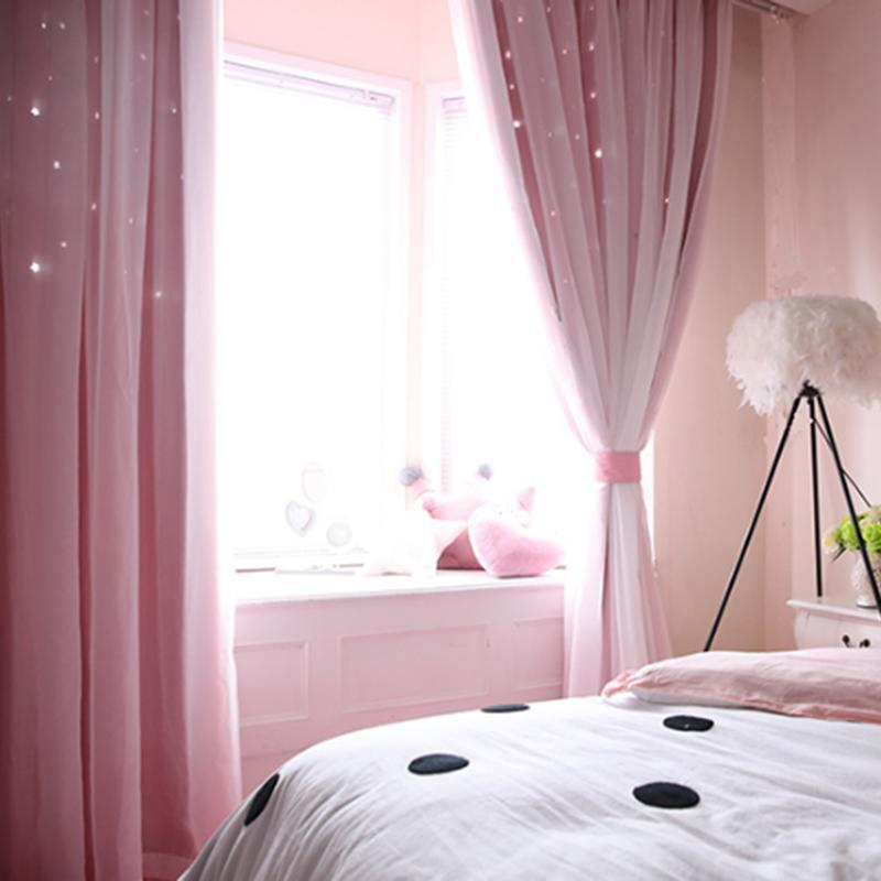 Star Blockout плотными шторами 2 слоя Ушко Чистая Ткань Спальня затемнение UK