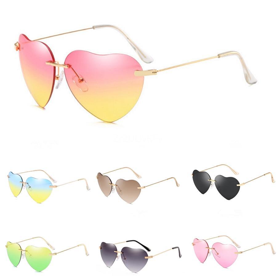 The Black Heart-Shaped Glasses Sunglasee Occhiali Nuovo # 46569