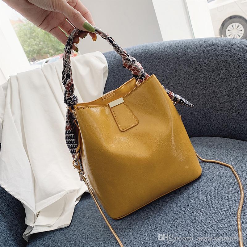 2019 новый женский пакет молодая мать дочь леди дизайнер плед женские сумки леди сумка ведро сумка модная сумка yazi / 5