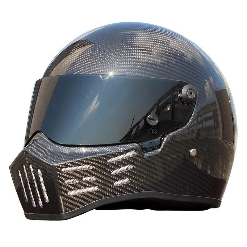 ATV-8 Carbon Fiber Motocross Full Face Helmet Retro Model Motorcycle Helmet Racing Moto Full Face Helmets casco capacete XS-XXL casque moto