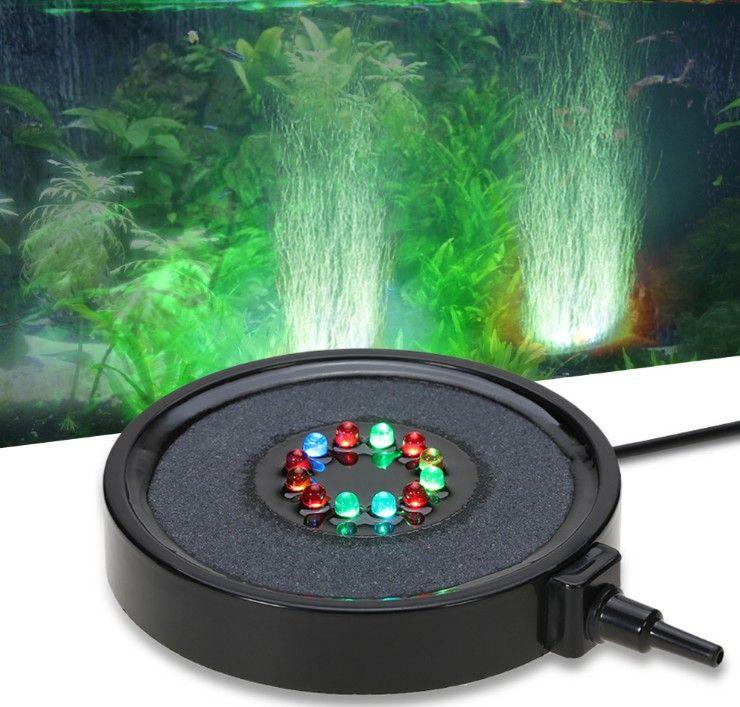 IP68 погружной подводный свет 12 светодиодов Аквариум пузырь занавес шаблон RGB Аквариум лампа с 1,5 м трубы трубки для воздушного насоса LLFA