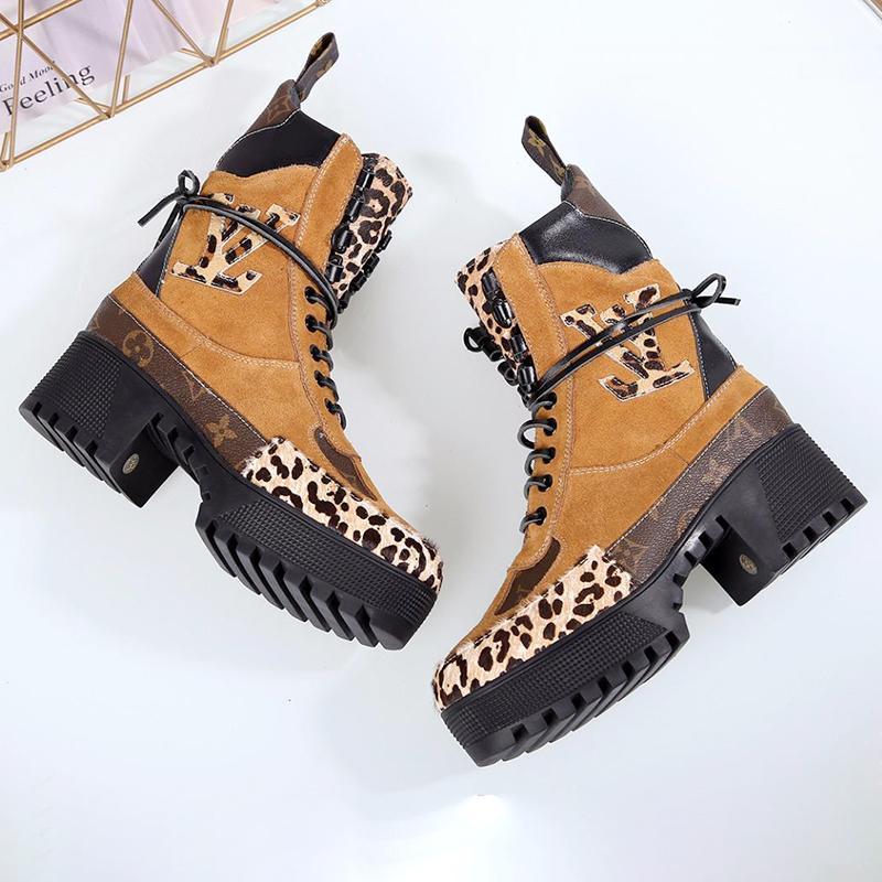 Laureate Platform Desert Boot Damenschuhe High Quality Luxus Plus Size Frauen Stiefel Breath Herbst und Winter beiläufige Frauen Fußbekleidungen