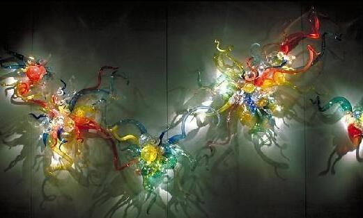 اليد في مهب فن الزجاج Decoratiove ستريت الإضاءة للجدار ديكور متعدد الألوان LED مصابيح الحائط للمنزل فندق-LRW0010
