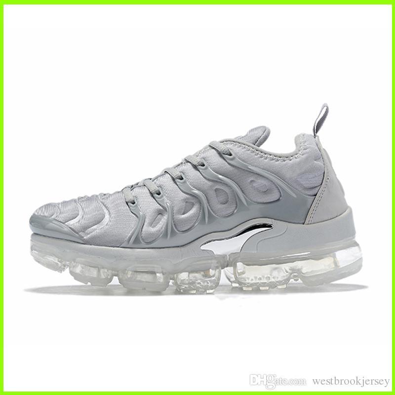 Marca TN Plus diseñador zapatillas de deporte para mujer para hombre Tns zapatos al aire libre aptitud de la gimnasia de zapatos Blanco Negro Gris Deporte Formadores Chaussures Online