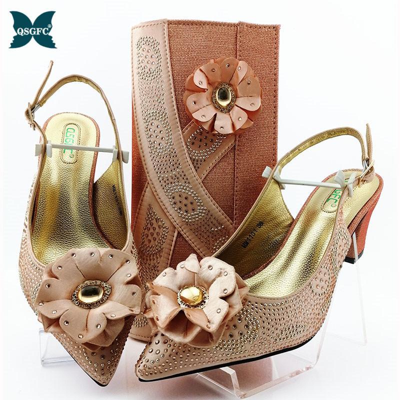Nigeria dernière match chaussures et le sac design italien chez les femmes Set de haute qualité Italien Match chaussures et de sacs Set pour mariage