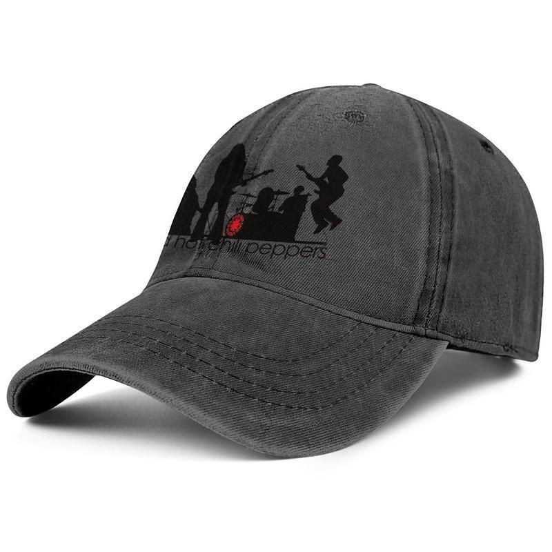 RHCP Red Hot Chili Peppers прохладного логотип черная для мужчин и женщин бейсбола джинсовой конструкции крышки дизайнер пользовательских прохладного старинного симпатичного стильного personalis