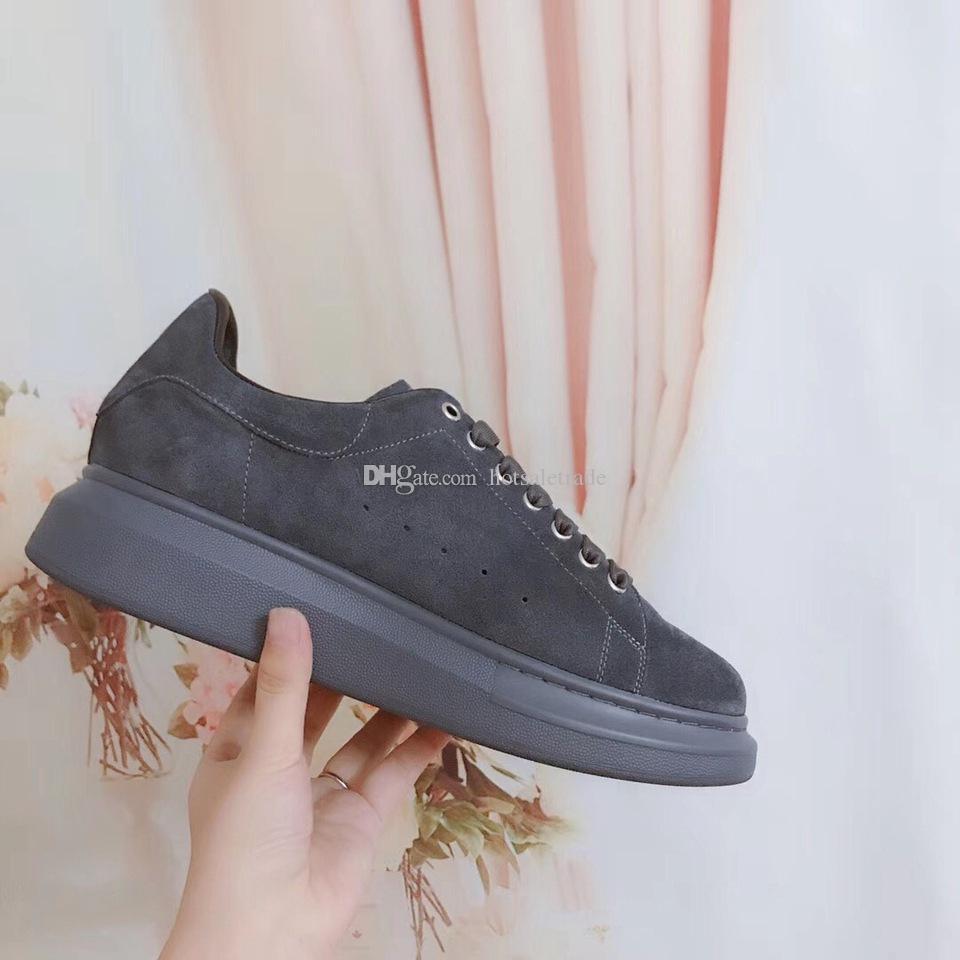 Grey Suede Scarpe Sneakers 2020 New Season superiore Chunkey Chaussures Scarpe con la zeppa scarpe da tennis all'ingrosso