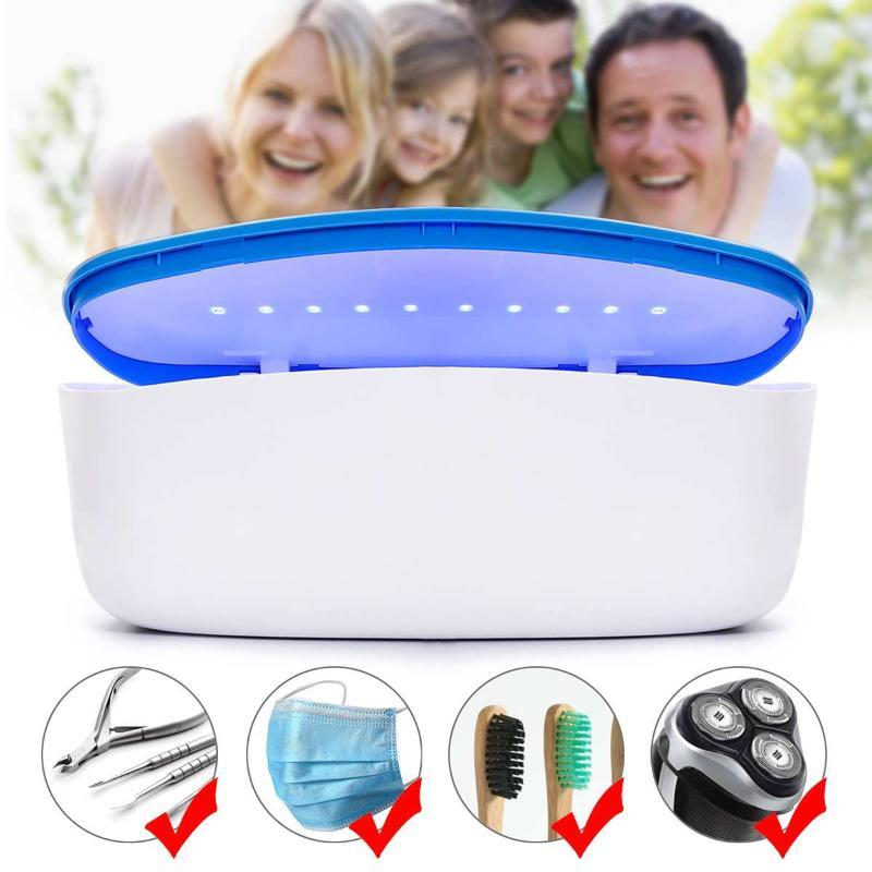 Dispositivo USB portátil Smart LED UV Esterilizador Caja de desinfección Cuidado Personal Cuidado del Cabello Herramienta de limpieza de manicura