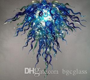 ايطاليا نمط اليد في مهب زجاج الثريا ضوء الحديث الكريستال فن الديكور زجاج مورانو قلادة مصابيح ديكور المنزل زجاج الثريا