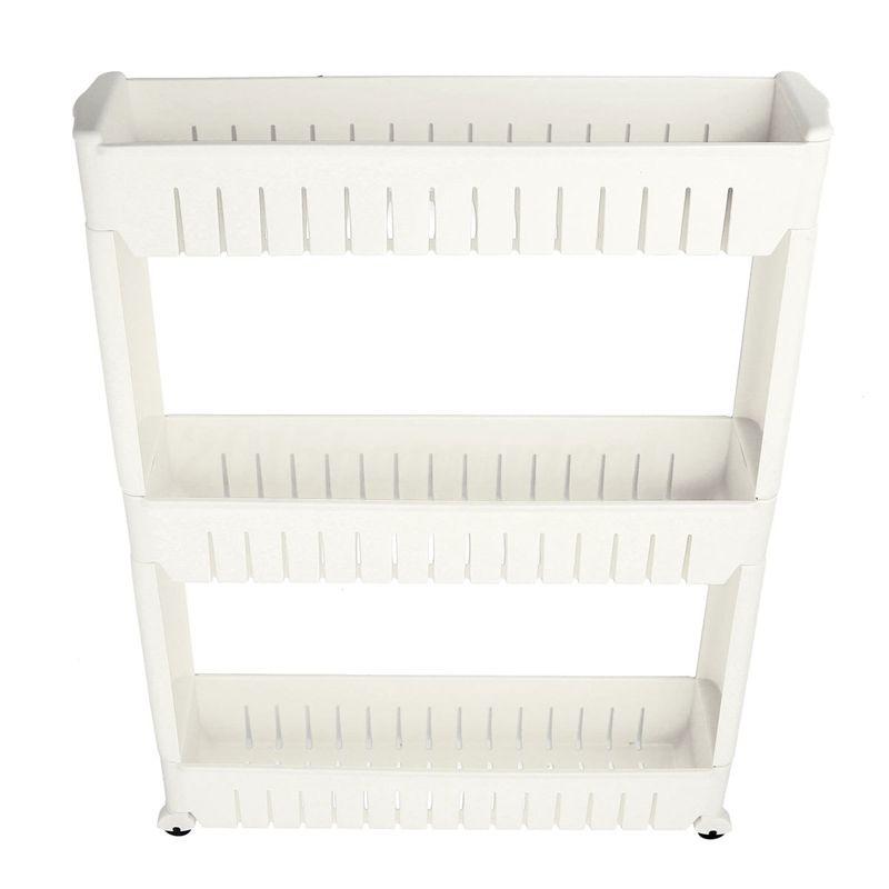 Slim Slide Out Kitchen Trolley Rack Holder Storage Shelf Tower Folding 3 Tire