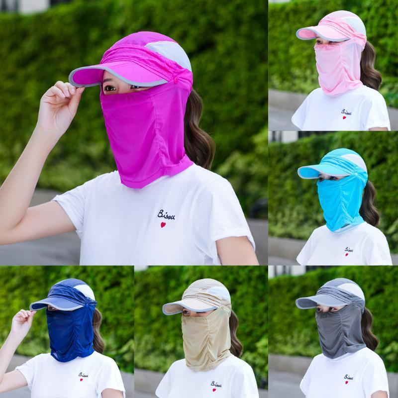 Women's All-inclusive Face Quick-Drying Hat Sunscreen Lens Sun Hat Ridin Hats fast ship enough stock dropshipping wholesale #14