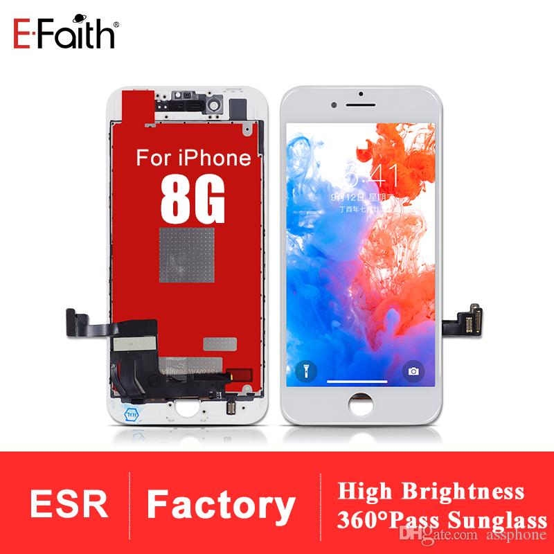 EFaith High Brightness and Resolution LCD For iphone 8 Old Tianma Qulaity With No Dead Pixel Smooth Touch With 1 year warranty