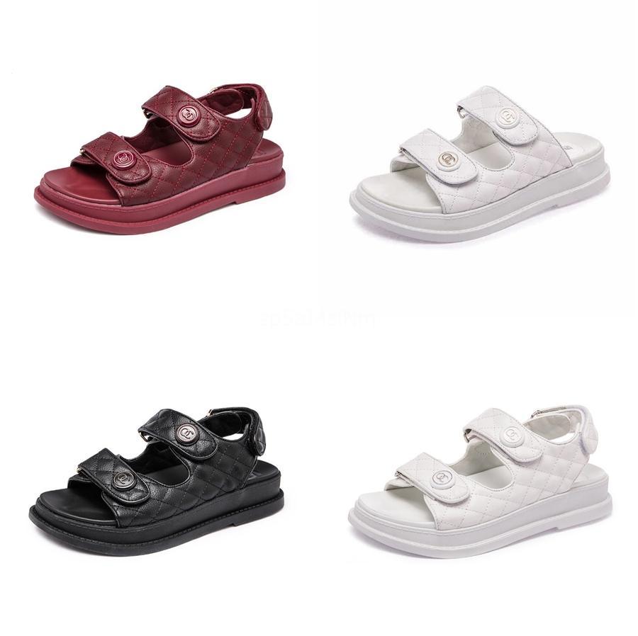 2020 Nouveau Sandales imprimé léopard Chaussures d'été Femmes Grande Taille Andals Sandales plates Femmes Chaussures d'été C21 # 995