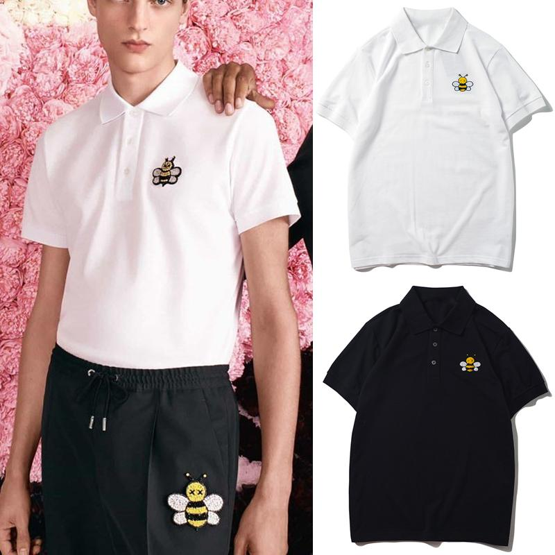 Embroidery Bee Polo Shirt For Men 2020 Leisure Casual Polos Nice Quality Breathable Cotton Slim Fit