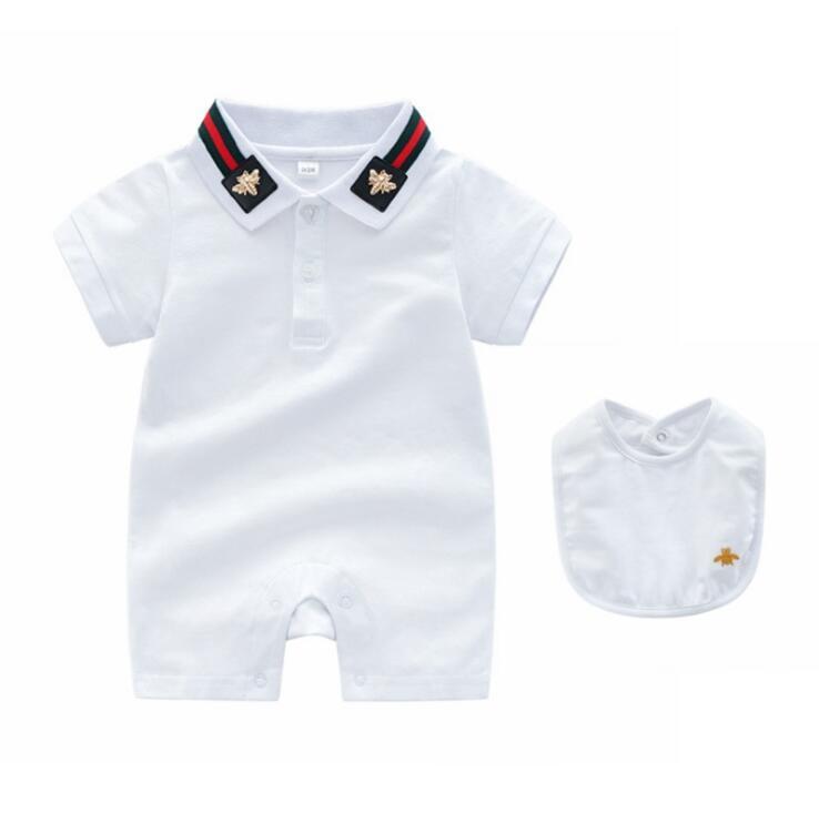 Мода дикая детская одежда трикотажные с короткими рукавами шею британский ветер новорожденных одежда 0-3 месяца хлопок прилив новорожденных
