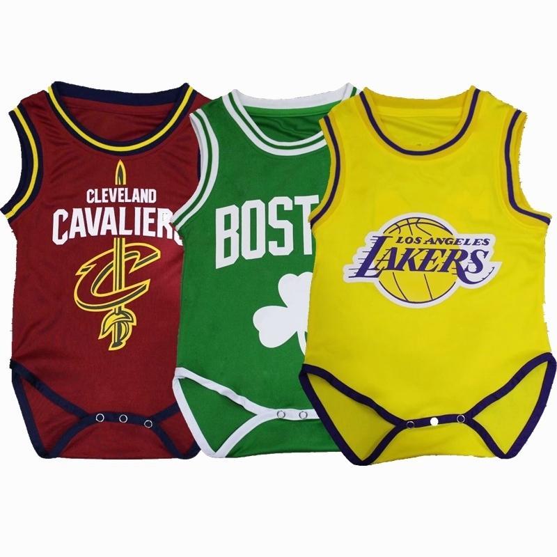 Infantil Basketbol Giysi Bebek Giyim Bodysuits Popüler Kız Erkek Basketbol Spor Tek Parça Rahat Tarama Bodysuits Y19050602
