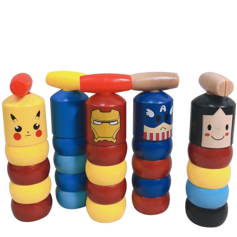 새 장난감! 인크 레 더블 매직 작은 나무 사람 불멸의 달마 모델 그림 액션 장난감 재미있는 장난감 선물 (영어 포장)