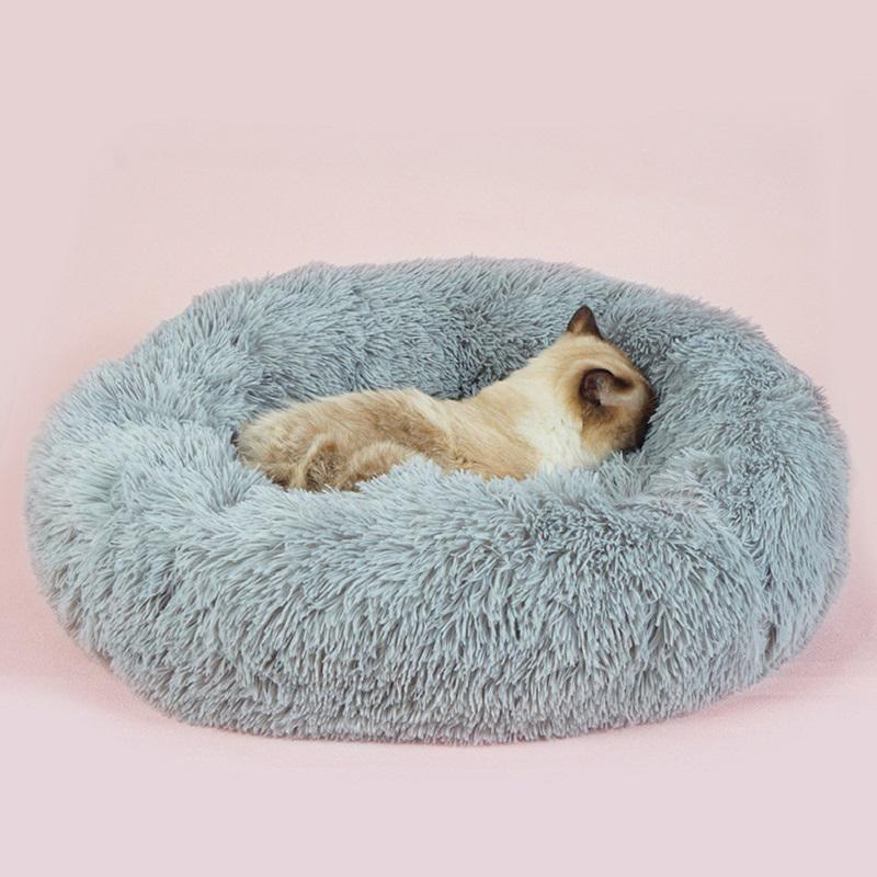 Súper cama del perro de peluche suave cómodo del animal doméstico de la perrera de invierno cálido y gato cachorro de perro de la estera del amortiguador sofá de felpa lavable mascota hondenmand cama