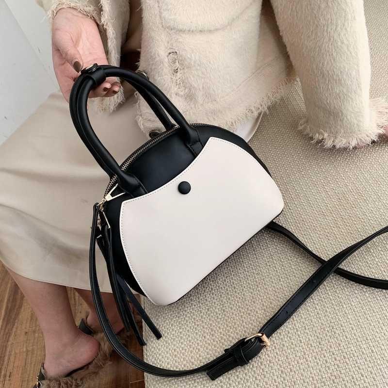 Burminsa cerniere doppie Piccolo Shell Donne Unico borse ragazze di disegno Crossbody Borse di alta qualità femminili Borse a tracolla NUOVI 2020