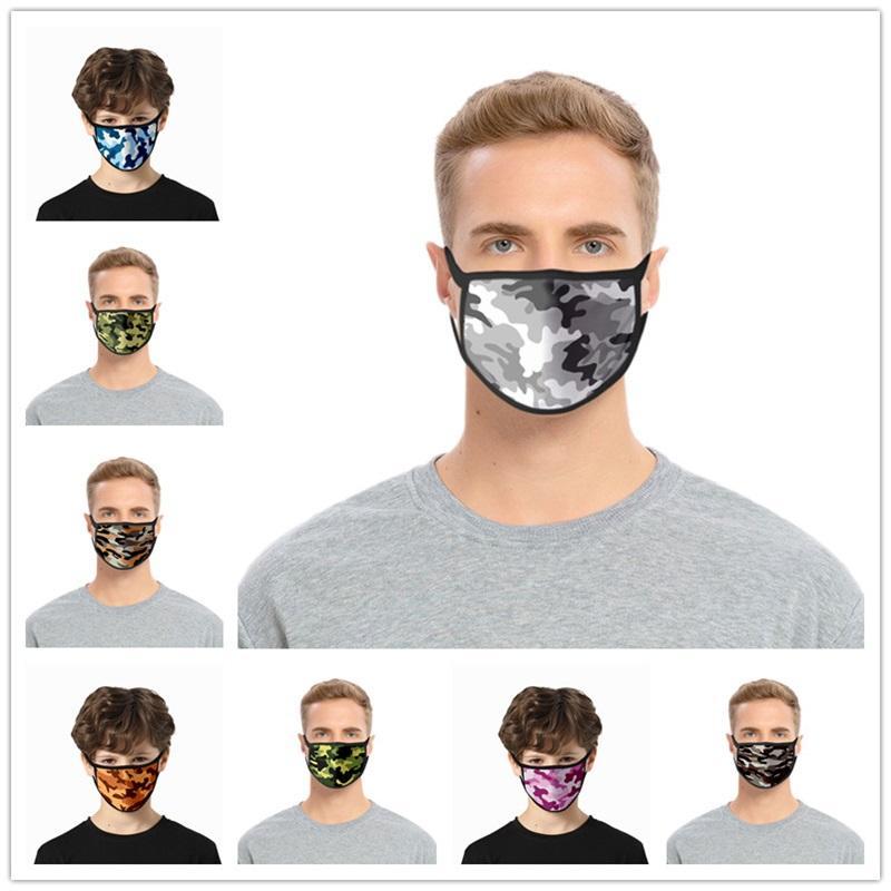 Bocca Maschera Unisex camuffamento colori antipolvere mascherina mascherine Camouflage Donne Uomini muffola Viso Bocca partito