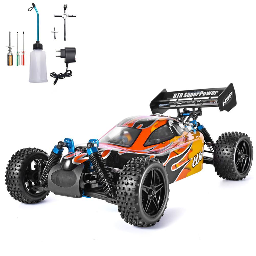 HSP RC Car 1:10 Scale 4wd RC Toys Two Speed Off Road Buggy Nitro Gas Power 94106 Warhead High Speed Hobby Remote Control Car MX200414