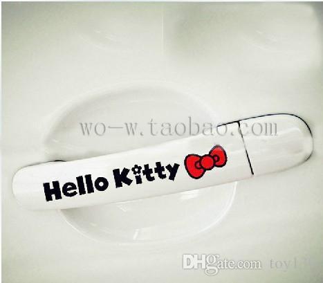 Per ciao gattino bowknot / divertente bello / Sticker Decal Car finestra telefono adesivi / Non ha paura di acqua / riflettente rosso