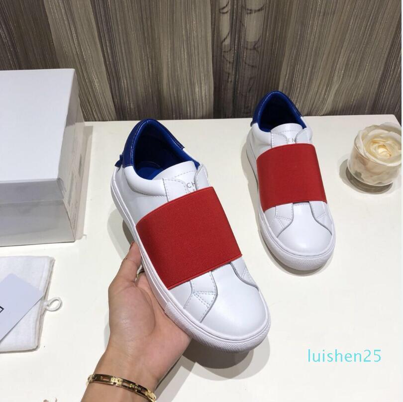 2020 sapatos de grife de luxo Mens baixas Sapatilhas de couro Top Fashion reais para homens Designer Casual com Shoes livre l25 transporte