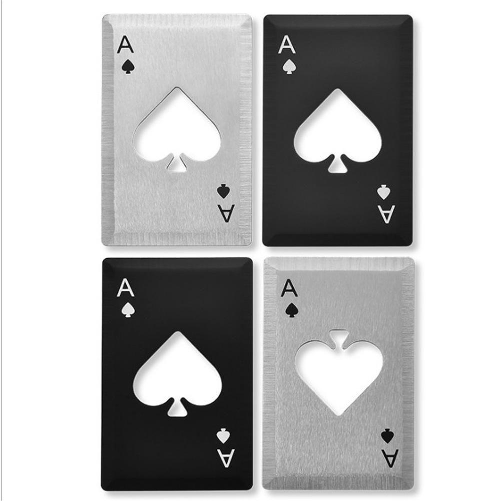 Poker-Karten-Bier Flaschenöffner Personalisierte Edelstahl Flaschenöffner Bar-Werkzeug
