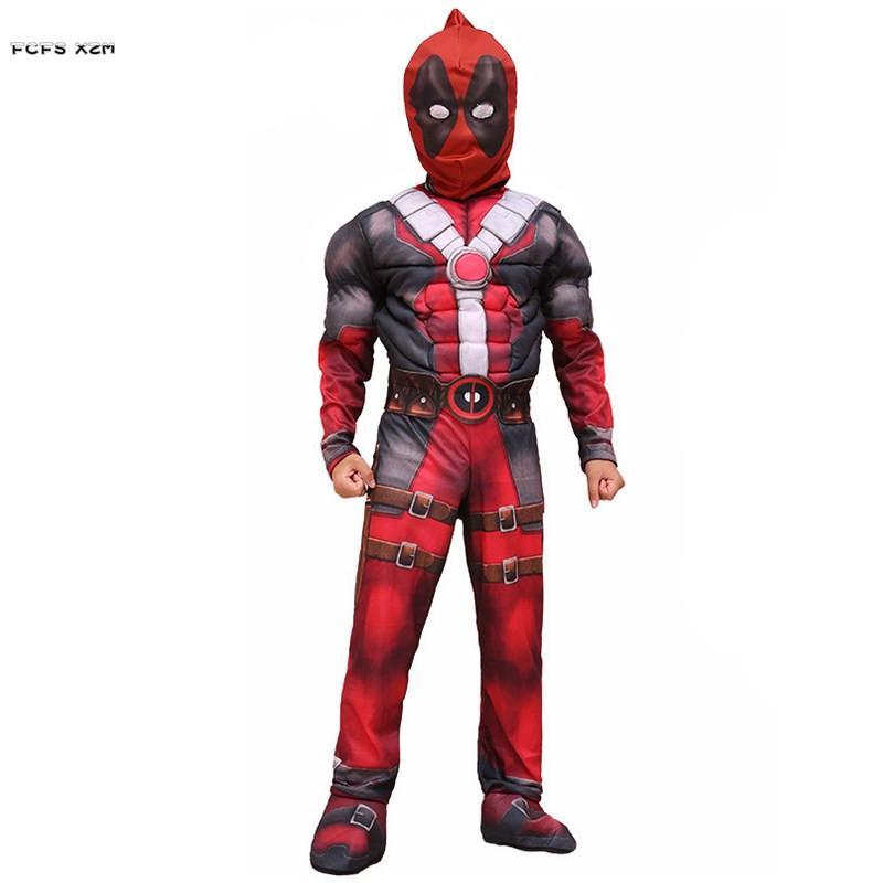 Boys Halloween Deadpool Movie costumes Kids Children ninja Cosplays Christmas Carnival Purim Stage play Masquerade Party dress
