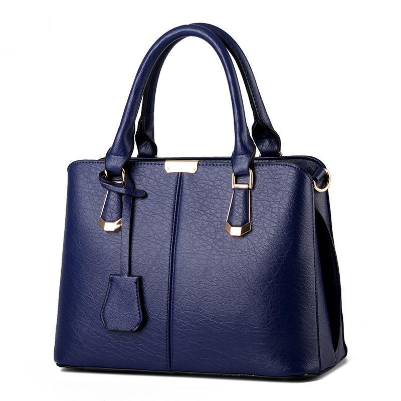 Горячие продажи Мода Женщины Кожа Сумочка Наклонные Женский бант сумки на ремне сумки Lady Shopping Tote Сумка DeepBlue