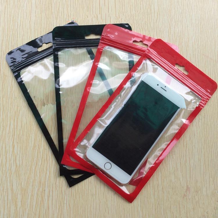 12 * 22 centimetri Zipper sacchetto di plastica di vendita al dettaglio sacchetto poli imballaggio per il telefono cellulare Custodia per Samsung Galaxy S7 bordo Nota 7 5 NOTE4 S6 Iphone 6 6S Plus