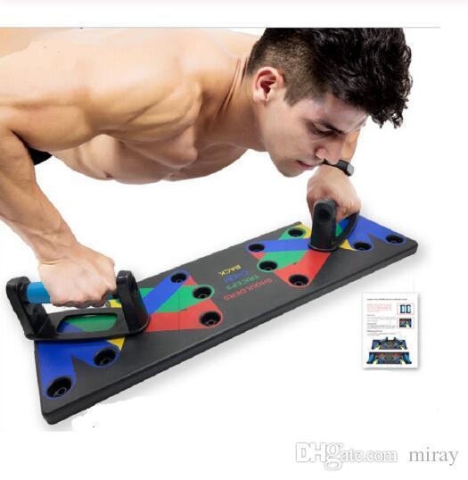 MEISHANG Push Up Rack Board 9 en 1,Push Up Board Multifuncional,Push Up Board,Push Up Tabla Board para,Plegable Tabla De Flexiones,Entrenamiento Port/átil Push-up,Tabla De Flexiones