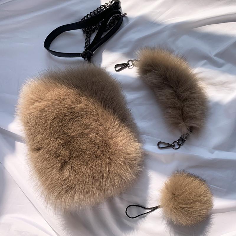 Женщин реального Лисий мех сумка дамы сумки тотализатор кроссбоди сумки натуральная кожа дизайн сумка кожа мода дамы сумки