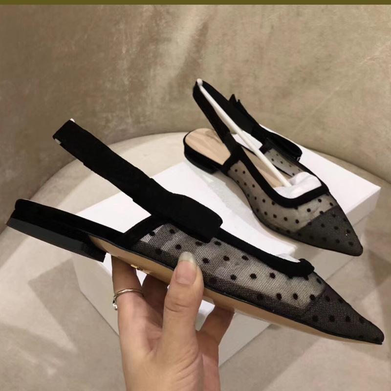 Com caixa de 2019 Designer de moda de luxo mulheres sandálias femininas sapatos novos de verão pista pontas size35-42