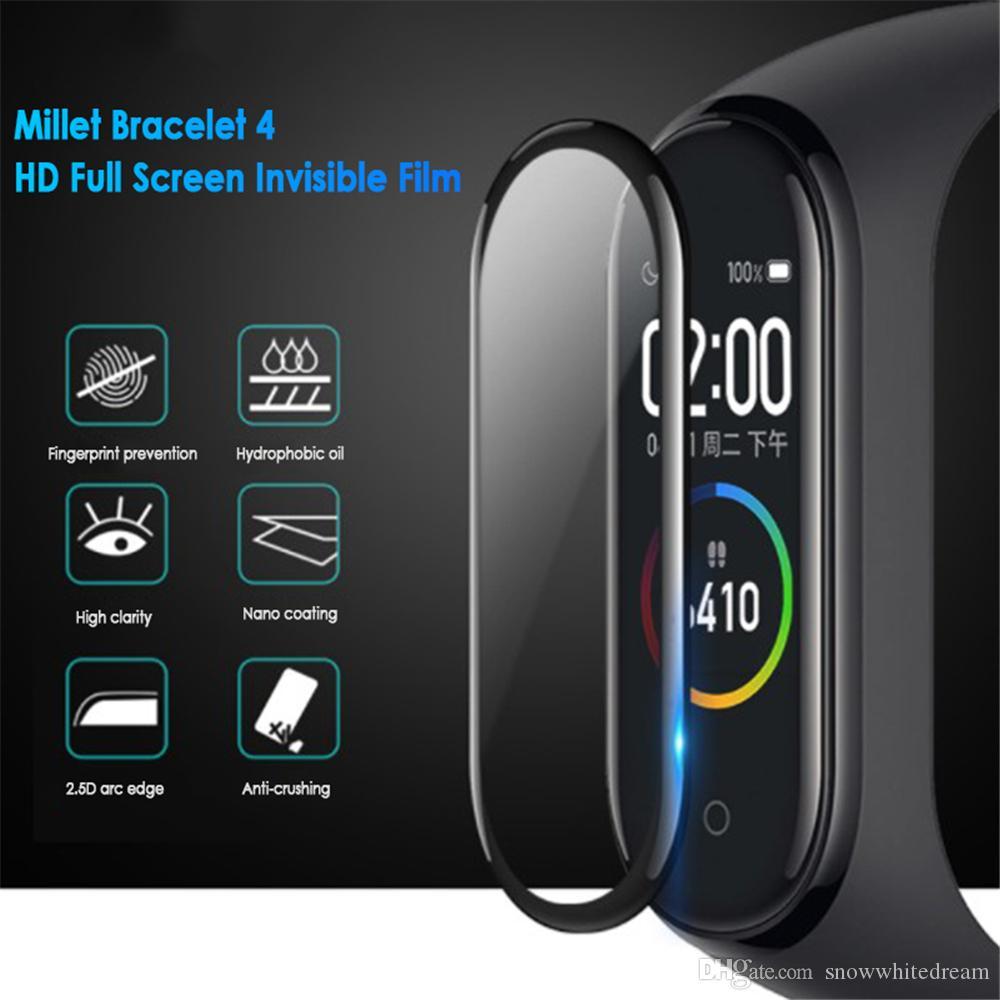 Пленка для Xiaomi Mi диапазона 4 Protector Soft Glass для Miband 4 Фильм Полное покрытие экрана Защита Защитный чехол Смарт аксессуары