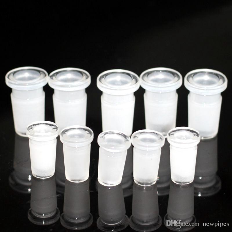 ¡¡¡En stock!!! Venta al por mayor 10mm 14mm 18mm Low Pro Glass Reducer Adaptador de vidrio tubo de agua de vidrio bong convertidor de 14mm a 10mm envío gratis
