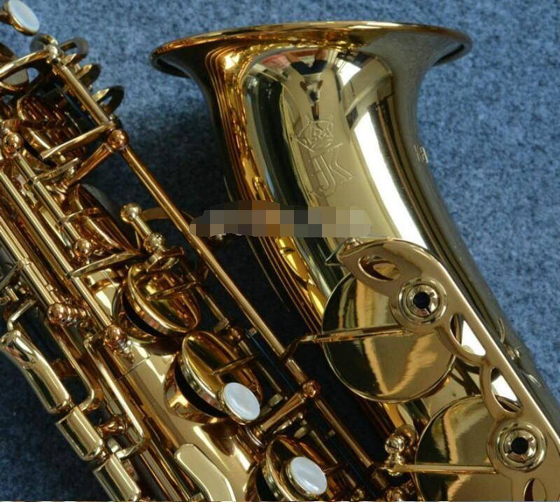 JK Julius Keilwerth ST110 Alto Eb Tune Саксофон Brass Gold Lacquer E Flat Performance Музыкальный инструмент Сакс с Case аксессуары