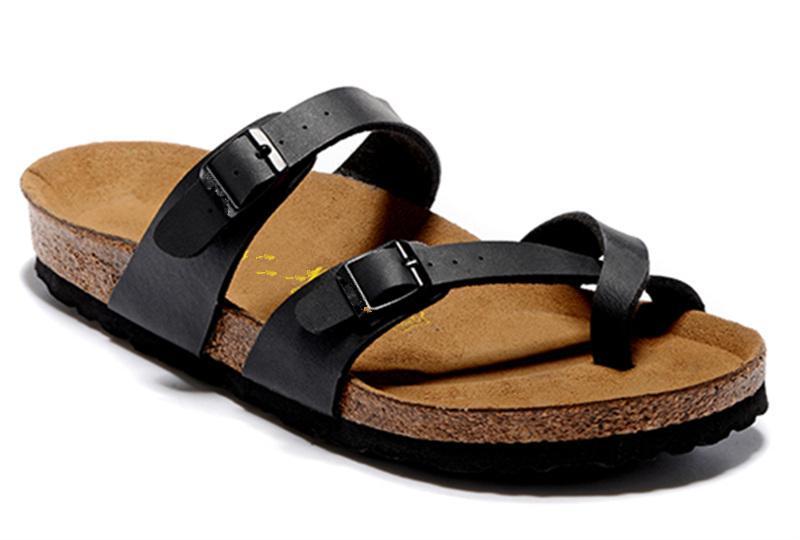2020 Mayari der heißen Verkauf Sommer Männer Frauen Wohnungen Sandalen Cork Pantoffeln unisex casual Schuhe Mischfarben Größe US3.5-15.5 drucken