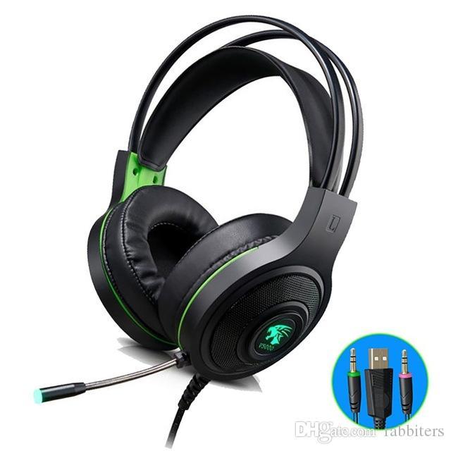V5000 7.1CH LED 3.5mm سلكي كمبيوتر محمول لسماعات الألعاب سماعات إلغاء الضوضاء صوت ستيريو لأجهزة الكمبيوتر ألعاب الهاتف المحمول PS4 Xbox One