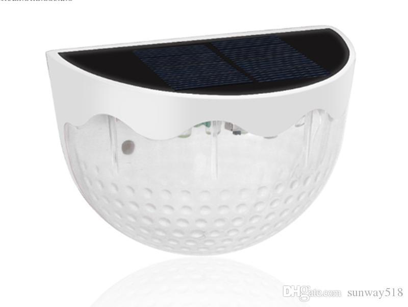Valla solar Pon las luces de montaje en pared cubierta decorativa de iluminación, solar Negro Blanco alimenta la lámpara al aire libre para parthway